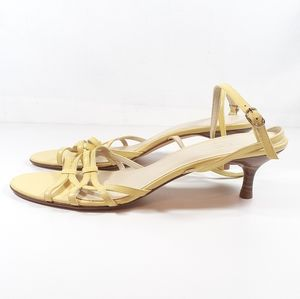 Talbots Shoes - Talbots Sandals 10 Narrow Pale Yellow Shoes